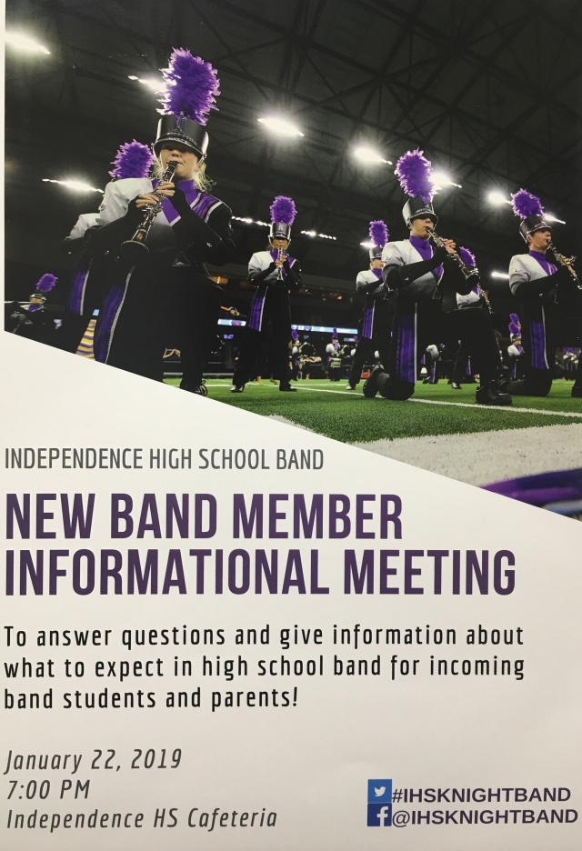 ihs new band member meeting